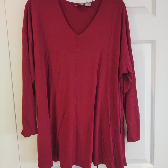 💝$5 Sale - Kenar brick red long sleeve swing top